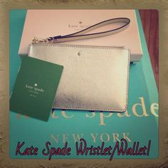 Kate Spade Wallet! This is a gorgeous Kate Spade Wallet new in the box.  The pictures don't do it justice!  This is a stylish accessory for any outfit for a night out on the town! kate spade Bags Clutches & Wristlets