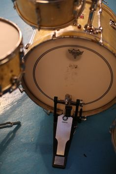 1963 Premier Kick Drum with Remo Coated Ambassadors Pre International Size
