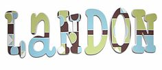hand painted wall letters - painted to match any decor