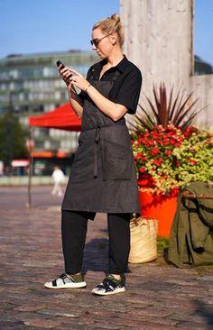 TAUKO x Hanna G apron melange grey Sustainable Design, Upcycle, Apron, Normcore, Grey, Coat, Shopping, Fashion, Gray