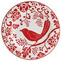 Have these in three different colors. Love them! (Red Bird Plate from Pier One)