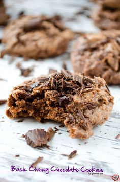 Basic Chewy Chocolate Cookies are soft and melty inside. Just make sure you don't overbake these.| giverecipe.com | #cookies