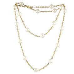 Pearl and Gold Chain Sautoir by Chanel