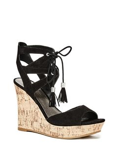 81cdcc1ba3152 G by GUESS Women s Estes Lace-Up Wedges     You can find more