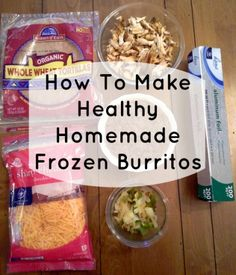 Make your own frozen burritos that are fresher and more delicious than the storebought kind! You can make ahead, even weeks in advance, for lunches or busy weeknights. Homemade Frozen Burritos, Homemade Frozen Meals, Freezer Cooking, Freezer Meals, Chicken Freezer, Rotisserie Chicken, Crockpot Meals, Grilled Chicken, Freezer Burritos