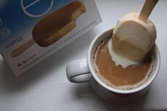 #nationalcoffeeday is in full swing at ENLIGHTENED headquarters!  Join in on the fun by dipping one of our coffee ice cream bars into your cup of joe for a sweet creamy twist