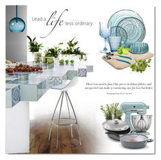 Verde in the Kitchen by ollie-and-me on Polyvore featuring polyvore, interior, interiors, interior design, home, home decor, interior decorating, KitchenAid, Bialetti, Wilton Armetale, Tom Dixon, Pier 1 Imports, Skandium and kitchen