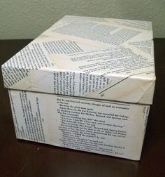 How to make a Modge Podge Photo box- it would be cool to also use this with bible pages. :)