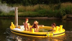 The HotTug is the world's first wood-fired hot tub that you can sail