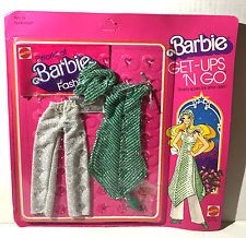 BARBIE GET UPS 'N GO Silvery Spark After Dark Fashion Outfit #2301, Mattel 1977