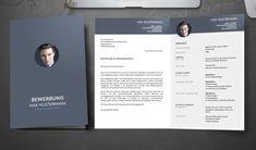 Bewerbungsmappe, bestehend aus Deckblatt, Anschreiben und Lebenslauf, überzeugt durch die angenehme Farbwahl und einen strukturierten Aufbau. Graphic Design Resume, Tips, Cover Letters, Resume, Money, Templates, Projects, Counseling