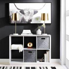 Metal Shade with Marble Base Buffet Table Lamp Gold (Includes Energy Efficient Light Bulb) – Project 62 - Modern Buffet Table Lamps, Metal Table Lamps, A Table, Cube Storage, Storage Organization, Cube Organizer, Storage Baskets, Organizing, Grey Bookshelves