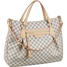 """Louis Vuitton Evora MM Damier Ebene Canvas N41131 Handbags:Celebrate exceptional detailing with the Evora MM. In supple Damier Ebene canvas, feminine pleats, sumptuous leather trimmings and rich golden brass pieces all add to its sophisticated look.  * Size:17.3"""" x 17.3"""" x 3.9"""" * Hand or shoulder carry with removable, adjustable strap * Zipped front pocket * Interior double patch pocket * D-ring for keys and accessories * Soft Microfiber lining"""