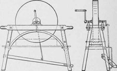 Frame construction for grindstones