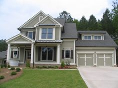 cream trim exterior | An olive-ish, gray-green with nice bright white trim. That trim is ...