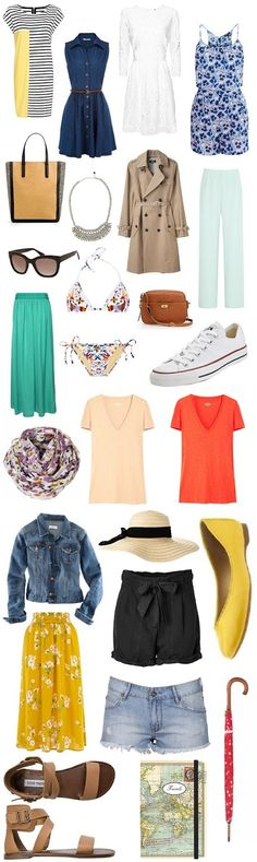 packing must-have's for europe in the summer. this blog is toooo cute! <3