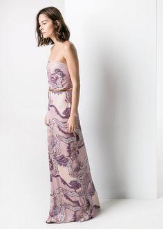 Paisley-print long dress - Women | MANGO