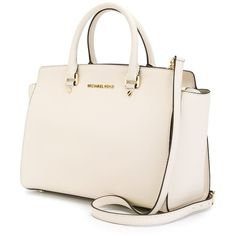 Michael Michael Kors Large Selma Tote (€355) ❤ liked on Polyvore featuring bags, handbags, tote bags, michael michael kors handbags, pink handbags, pink tote, pink tote bag and pink purse