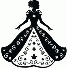 Silhouette Design Store - View Design #76637: cinderella in ball gown silhouette