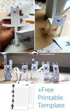 Животни+от+хартия+в+квадратчета