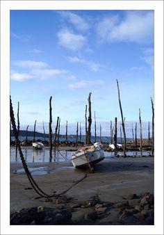 Port-Mazou,  Porspoder. Un des nombreux ports à pieux du Léon, pour la plupart disparus.  Brittany