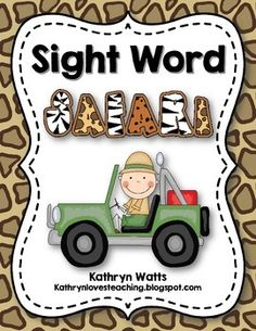 Your students will enjoy going on a Sight Word Safari to learn sight words. This resource includes everything you need in order to assess sight word knowledge of your students. The word lists are leveled from pre-primer to second grade and they include sight words from the Dolch  and Fry word lists.