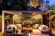 Contemporary pergola with drinking fountains Although early within strategy, a pergola continues to be experiencing Outdoor Rooms, Outdoor Living, Outdoor Furniture Sets, Outdoor Decor, Outdoor Pergola, Pergola Canopy, Pergola Shade, Gazebos, Pergola Decorations