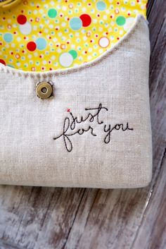 Just for you Pouch | Minki's Work Table