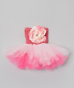 Look at this Hot Pink & Light Pink Flower Tutu Dress - Infant, Toddler & Girls by Bride and Babies Light Pink Flowers, Pink Light, Infant Toddler, Toddler Girls, Baby Couture, True Love, Hot Pink, Tulle, Bride
