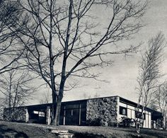 Paul Rand (1914-1996) | Paul and Rand residence | Norwalk, Connecticut | Esquire Magazine – 1953 | Photo: Hans Namuth