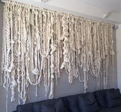 Gallery — Little Dandelion – Karen Kielly – weberei Weaving Wall Hanging, Weaving Art, Hanging Art, Wall Hangings, Macrame Art, Macrame Projects, Extreme Knitting, Rope Art, Art Diy