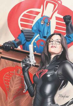 Joe Cobra Commander & the Baroness by Mike Mayhew Comic Book Characters, Comic Character, Comic Books Art, Thundercats, Baroness Gi Joe, Cobra Art, Cobra Commander, Gi Joe Cobra, Best Cosplay