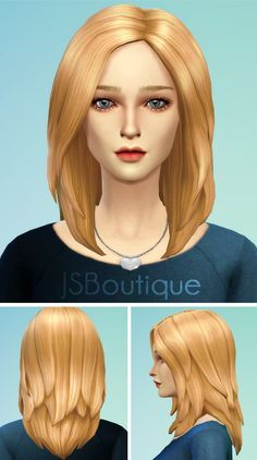 JS Boutique: Hairstyle 1 new mesh • Sims 4 Downloads