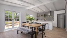 A total house renovation in 12 weeks you just have to see! Courtney turned an old shack into a stunning Scandi-style home that doesn't shy from bold design Scandinavian Style, Scandi Style, Bungalow Renovation, Interior Design Work, Open Plan Kitchen, Kitchen Ideas, Open Plan Living, Dining Room Furniture, Dining Chairs