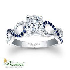 Sapphire & Diamond Engagement Ring! 7714LBSW http://www.barkevs.com/engagement-rings/diamond-engagement-rings/blue-sapphire-engagement-ring-7714lbsw.html