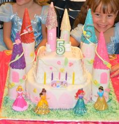 I made this castle cake for my Twin Girls on their 5th B-day. They wished to have a Princess Castle and I did everything I could to make their wish co...