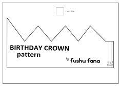 FushuFana: Patrón para corona de cumpleaños / Birthday Crown Pattern