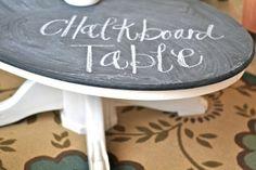 Chalkboard Coffee Table DIY {Coffee & Side Tables}