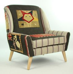 Andrew Martin Fante Flag Armchair Charcoal by JustinaDesign, £945.00