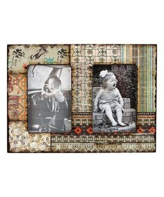 Look what I found on #zulily! Multicolor Twin Wood Picture Frame #zulilyfinds