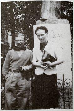 Simone de Beauvoir and Jean Paul Sarte - Medici Fountain, Jardin Luxembourg, Paris.