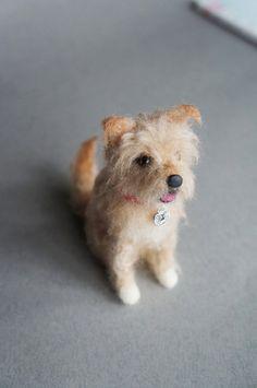 Needle Felted Cairn Terrier, Norwich Terrier, Norfolk Terrier, Imaal Terrier, Wool Felt Animals, Dog, Custom Pet Portrait, Miniature Animal