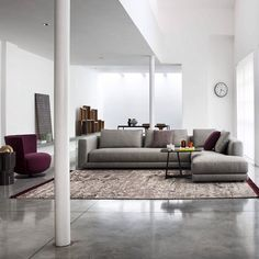 #Floyd #sofa #blackcollection   #Designed and #dressed by #Castellolagravinese Studio.  A #geometric base designed by tailor stitching distinguishes the series of Floyd #modular sofas. In the range of compositions, this collection enables including a marble/lacquered top that matches perfectly the #chair bases, creating very unusual compositions for the more exacting interior #decorators.
