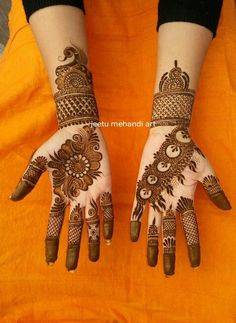 Latest Henna Mehndi Design Images For Hands - Kurti Blouse