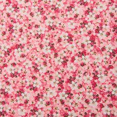Bavlněná látka Kytičky růžové Romance, Stof Red, Scrappy Quilts