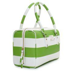 Kate Spade High Falls Melinda Purse - lime green and white stripes