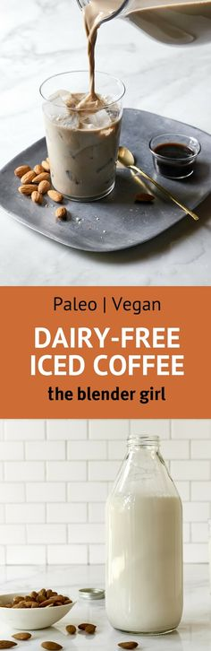 This vegan iced coffee is rich, creamy, super delicious, and so easy to make. You'd never know it's dairy free! Healthy Dinner Recipes, Vegan Recipes, Healthy Drinks, Whole Food Recipes, Dairy Free Recipes, Juice Smoothie, Smoothie Drinks, Best Espresso, Espresso Coffee