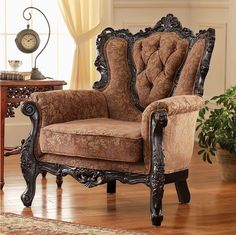 The Bentley Grand-Scale Armchair $799 at Design Toscano. LOVE that place!