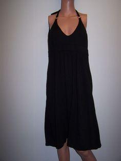 Victoria's Secret Bra Tops Dress Size Large Black Halter Knit Dress  #Victoriassecret #Maxi #Casual