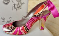 Bohoriental Themed Shoe - Handmade by Marsha Hall.  - Perfect bespoke shoes for Wedding's, Special occasions, and everyday -  For more information visit Marsha Hall's website - http://www.marshahall.com/